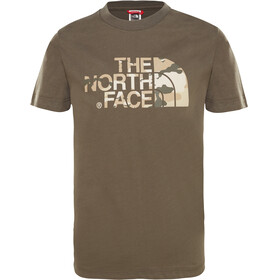 The North Face Easy S/S Tee Youth new taupe green desert youth printt